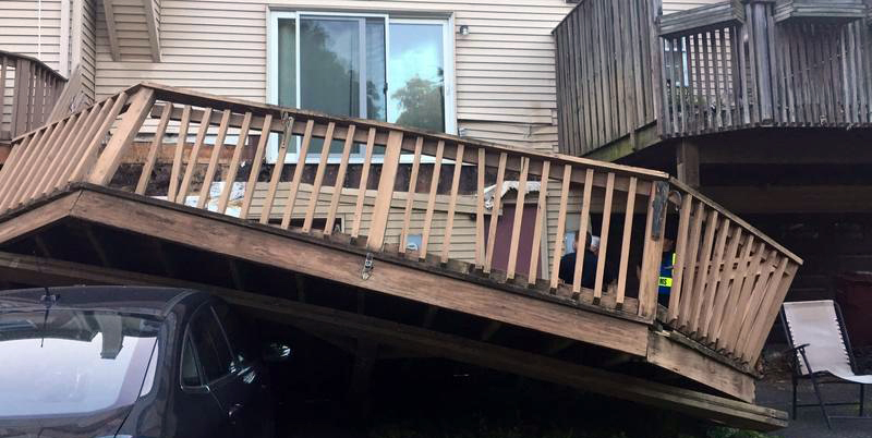 Whitehall, PA Deck Collapse (photo credit: KAYLA DWYER / THE MORNING CALL)