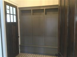 : Custom cabinets manufactured by A.D. Moyer Millwork